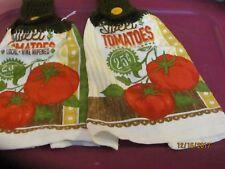 2 HANDMADE CROCHETED HANGING KITCHEN TOWELS TOMATOS