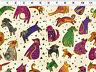 1 Yard Dogs & Doggies Laurel Burch Clothworks cotton fabric Y1800-57M Cream