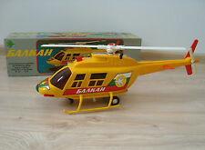 Vintage Large 80's  Bell 206 Helicopter Balkan Airlines Battery Opr. Toy + Box
