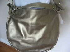 COACH Women's Gold Leather Large Cross-body BAG/PURSE #D1073-F13708