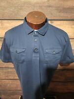 J lindeberg Mens XXL 2XL Blue Short Sleeve Golf Polo Shirt
