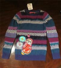 NWT DESIGUAL GIRLS KNIT LONG SLEEVE SWEATER DOLL Size 11 12 Fall Winter Tween