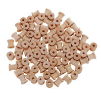 100pcs Vintage Wooden Sewing Tools Empty Thread Spools Sewing Notions