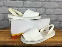 ESPADILLA LADIES UK 5 EU 38 WHITE LEATHER BALEARIC SANDALS SUMMER HOLIDAY