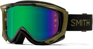 Smith Fuel V.2 w/ Spare Bike Goggles Mens Mystic Green/Green Mirror and Clear