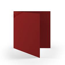 25x Klappkarten quadratisch - Bordeaux - (160 x 160 mm / 16 x 16 cm)