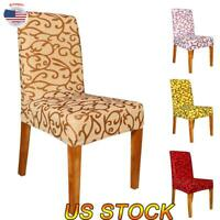 Dining Chair Covers Slipcovers Spandex Stretch Xmas Party Venue Room Seat Covers