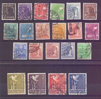 All.Bes. Kontrollrat 1946 - MiNr.943/962 rund gestempelt - Michel 120,00 € (662)