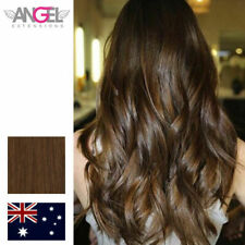 """Angel Single Piece With 3 Clips 8 /9 Chestnut 8""""/20cm Wide 27g Human Hair Clip"""