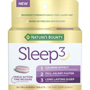 Nature's Bounty Sleep3 (60 Tri-Layered Tablets)