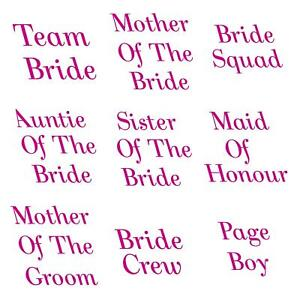 Personalized Hen Do Party Iron On Heat Transfer Flower Girl T Shirt Crew 7715