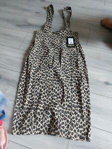 Collectif Leopard Denim Brace Skirt 12