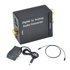 Digital Optical Toslink Coaxial to Analog L/R RCA Audio SPDIF Converter Adapter