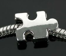 Autism Awareness Puzzle Piece Bead Charms For European Charm Bracelets
