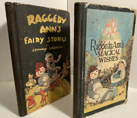 "Two 1928 ""Raggedy Ann's Magical Wishes""  &""R.A. Fairy Stories""by Johnny Gruelle"