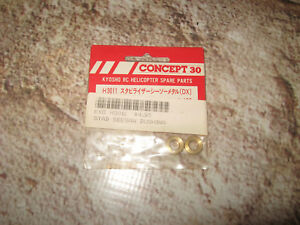 VINTAGE KYOSHO CONCEPT 30 HELICOPTER RC SEESAW METAL BUSHINGS H3011