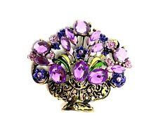 Flowers Brooch purplecolor Mothers day gift easter fun fashion jewelry enamel #4