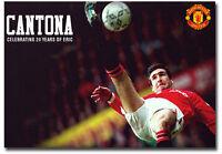 """Cantona Celebrating 20 Years Of Eric Fridge Magnet Size 3.5"""" x 2.5"""""""