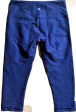 LULULEMON Wunder Under Crop Pants INDIGO SLUB DENIM BLUE w Mirage sz 4 Yoga Run