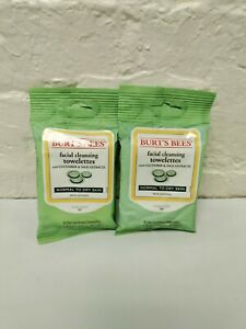 2 Pack Burt's Bees Facial Cleansing Towelettes, Cucumber & Sage, 10 Count