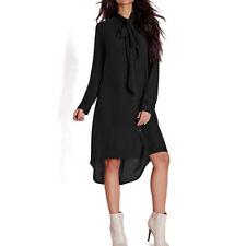 Women Plus Long Sleeve Maxi Dress Ladies Summer Loose Tops Blouse Shirt Dresses