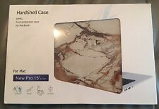 """MacBook New Pro 15"""" HardShell Case Brand New In The Box Marble Design"""