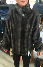 Pelliccia donna in visone colore grigio