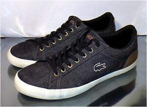 Lacoste Lerond 317 2 In Navy / Brown Sneaker, US Size 7.5