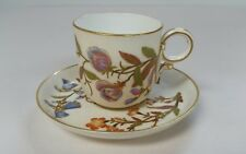 ANTIQUE ROYAL WORCESTER CUP AND SAUCER SET 1
