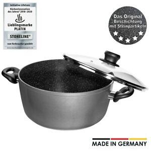 STONELINE® Made in Germany Kochtopf 20 cm, mit Glasdeckel