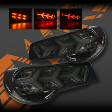 Smoked Lambo Style LED Sequential Indicator Tail lights for Toyota 86 Subaru BRZ