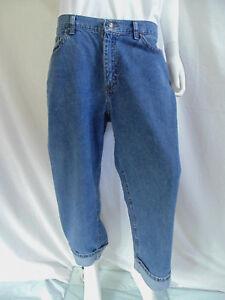 Riders Womens Jeans Size 16M Medium Denim Cuffed Ultra Low Rise Inseam 22 Cotton