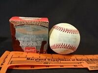 Old Vtg The Official American League Rawlings Baseball In Original Box