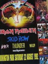 MONSTERS OF ROCK Donington 1992    Iron Maiden,Slayer,W.A.S.P.    Programm Buch
