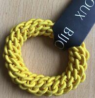 A Yellow Plaited Donut Hair Scrunchie/Bobble