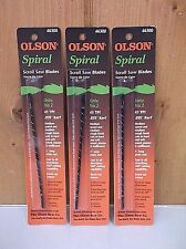 Spiral Scroll Saw Blades ~ 3 Pack of 12 ~ New ~ Free Shipping