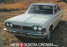Toyota Crown 2300 Deluxe Saloon 1968-70 original UK Sales Brochure
