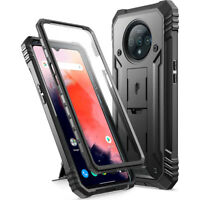 OnePlus 7T (2019) Case,Poetic Dual Layer Shockproof Kick-stand Cover Black