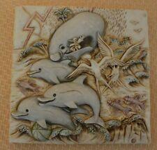 Harmony Kingdom Noah's Park Picturesque Dolphin Tile
