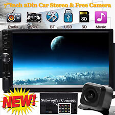 "2 Din 7"" Touch Screen Fm Bluetooth Radio Audio Stereo Car Video Player+Hd Camera (Fits: Scion xA)"