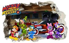 MICKEY Gigante e la Roadster RACERS Wall Sticker, camera da letto, bambino, DISNEY