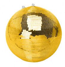 Spiegelkugel mit Sicherheitsöse 50cm gold // Discokugel - Mirrorball 50cm gold
