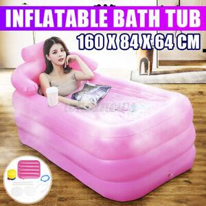 Inflatable Bath Tub Pool Adult Portable SPA Warm Bathtub Blow Up Travel Air Pump