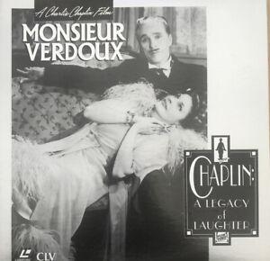 Charlie Chaplin Monsieur Verdoux Laserdisc