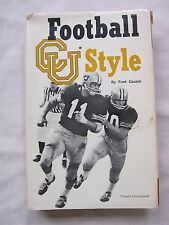 Old Book Football CU Style by Fred Casotti 1972 Signed 1st Ed. DJ GC