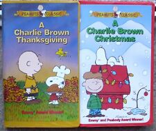 A Charlie Brown Christmas + Thanksgiving Peanuts Classic Video VHS Used or New?