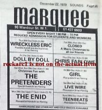 GIRL (Phil Collen Def Leppard) UK TIMELINE Advert - Marquee 28-12-79 4x3 inches