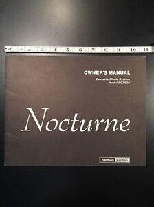 Harman Kardon SC2520 Nocturne Cassette Deck Original Owners Manual 12 Pages