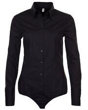 Damen Stretch Body Bluse schwarz Seidensticker Schwarze Rose SB-92 Slim  34- 46