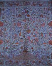 """Tree of Life Tapestry Cotton Bedspread 108"""" x 108"""" Queen-King Blue"""